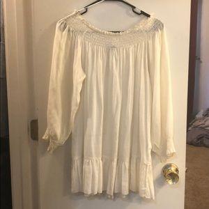 Light quarter sleeve cream boutique shirt